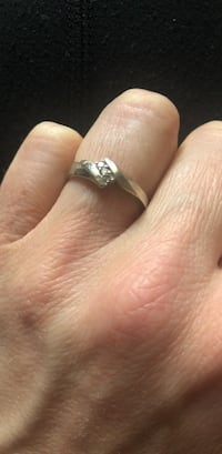silver and diamond solitaire ring Woodbridge, 22191