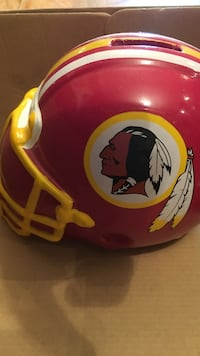 red and yellow football helmet miniature in box Arlington, 22204