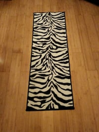 White and black zebra print runner Silver Spring, 20902