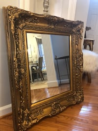 "36""X31"" beautiful Antique Vintage French Wooden Mirror Gainesville, 20155"