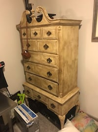 Beautiful Large Armoire / wooden tallboy dresser Dallas, 75235