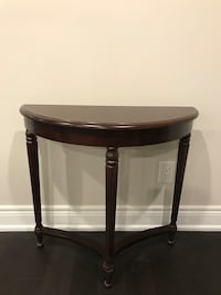 black wooden framed glass top side table Richmond Hill, L4S 1G7