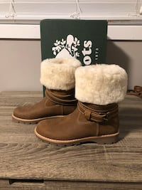 Roots Western Sheepskin Rollover Boots