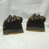 Antique Cast Iron Horse Bookends Copper Finish Mississauga