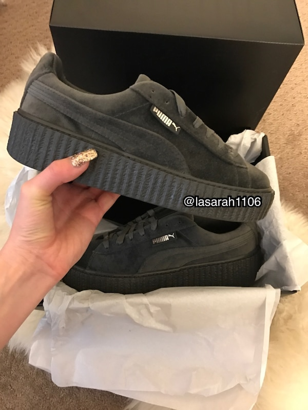 detailed look 9f16b c09ef Puma x Fenty Creepers Velvet Grey 7.5