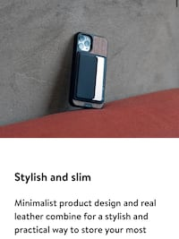 Mous phone card wallet - use with mous phone cases. Magnetic
