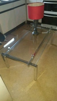 Tempered glass and chrome coffee table  Rednal, B45 0BD