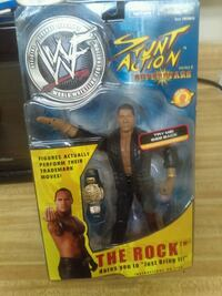 Stunt Action Superstars The Rock action figure pac Bessemer, 35020