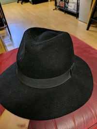 Black wide brim hat Mississauga