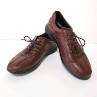 Ecco Women's Brown Leather Oxford Shoes - Size 6.5