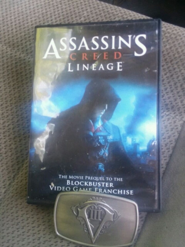 Used Assassins Creed Lineage Dvd Movie And Belt Buckle For Sale In