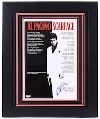 Al Pacino Signed & Framed Scarface 11x14 Poster Barrie