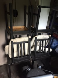 4 black wood chairs Laval, H7B 1B3