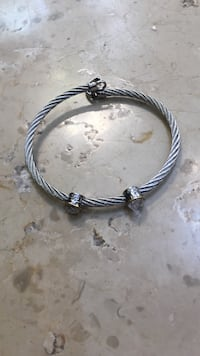 David Yurman Cable Buckle Bracelet with two diamonds lined in gold Venice, 30124