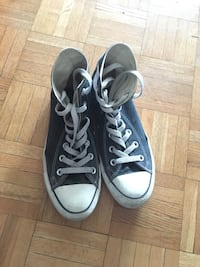 Pair of black converse all star high-top sneakers size 8 Montréal, H3H