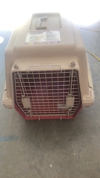 white and red pet carrier Saanichton, V8M 1L4
