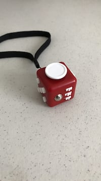Red and white fidget cube Silver Spring, 20906