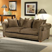Brown suede 2-seat sofa Jessup, 20794