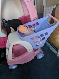 baby's pink and white Little Tikes cozy coupe Toronto, M3A 3R7