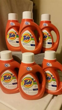 6 BOTTLES OF TIDE WITH BLEACH DETERGENTS 29 LOAD/4 Bell Gardens, 90201
