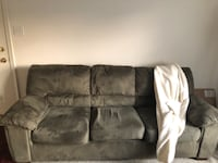 black suede 3-seat sofa Washington