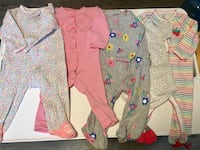 (5) Carters 9 mo Baby Girl Onesies  Lake in the Hills, 60156