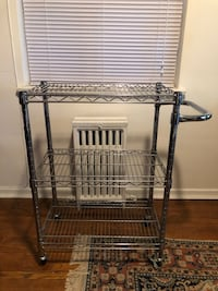 Chrome kitchen or bar cart on casters  Toronto, M8W 1Y3