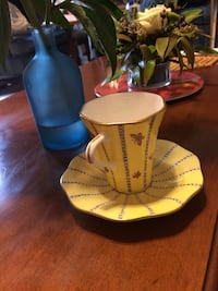 "Wedgwood Expresso cup and saucer ""Yellow butterfly"" New Westminster, V3M 1S8"