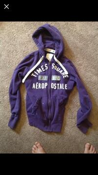 Purple and white zip-up hoodie Edmonton, T6J