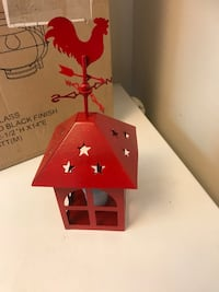 red and white wooden birdhouse Hendersonville, 37075