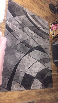Black, gray, and white area rug 2059 mi
