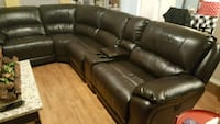 Power Reclining Bonded Leather Sectional 6 Pieces Manor, 78653