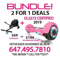 HOVERBOARD 2 FOR 1 DEAL. WE REPAIR. Mississauga, L4W 0C2