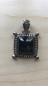 square silver framed Onyx pendant Moyock, 27958