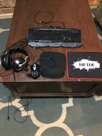 Gaming keyboard mouse headset and mouse pad