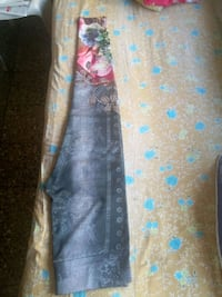 brown and blue floral textile Mumbai