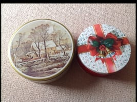 2 New Cookie Tins