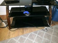 Glass tv stand Roy
