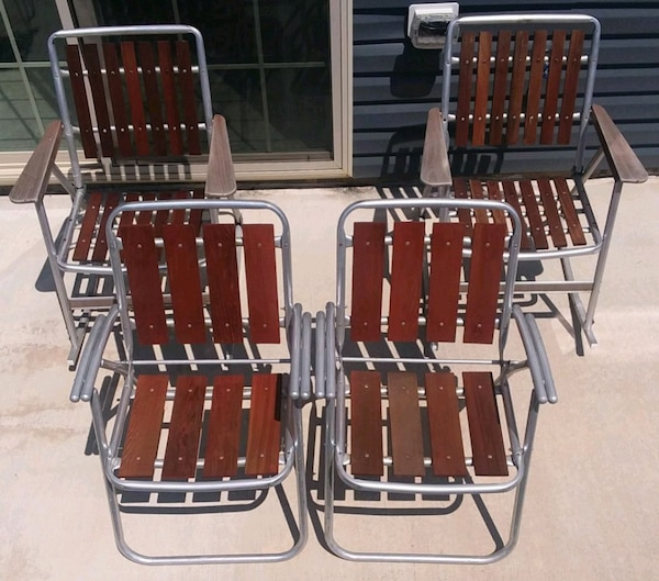 Super Redwood Slat Aluminum Folding Rocking Rocker Lawn Gmtry Best Dining Table And Chair Ideas Images Gmtryco