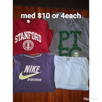 several assorted color of shirts
