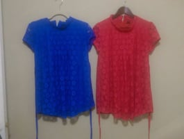 Lace blouses RED ,BLUE (BRAND NEW) each $20