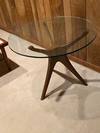 Mid Century Modern wood Table with glass top. Silver Spring, 20904