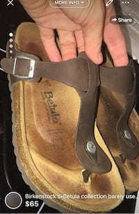 Birkenstock's•Betula collection barely used great condition size 37 women's -brown colour 536 km