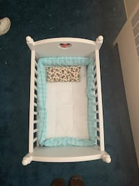 American girl doll bitty baby crib and changing table