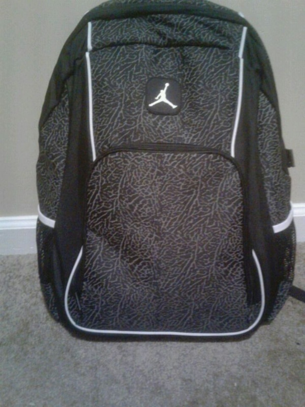 Used black and gray white Jordan backpack for sale in Austell - letgo 400bf823293bf