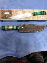 "(New) Hunting Knife 12"" w/GR Bone hndl & Sheath Stafford, 22556"