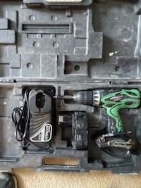 black and green Hitachi cordless hand drill in cas Galloway, 43119