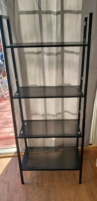 6 Black Metal Bookcase
