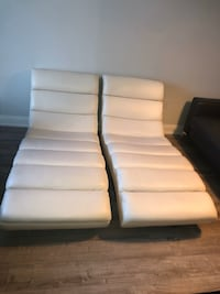 Cream Leather Chaise Loungers  Toronto, M3M