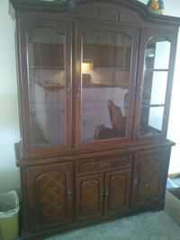Broyhill illuminated cabinet Hutch